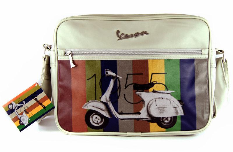 dbe84e458d VESPA Tasche Flight Bag VESPA 1955 Creme Quer Retro