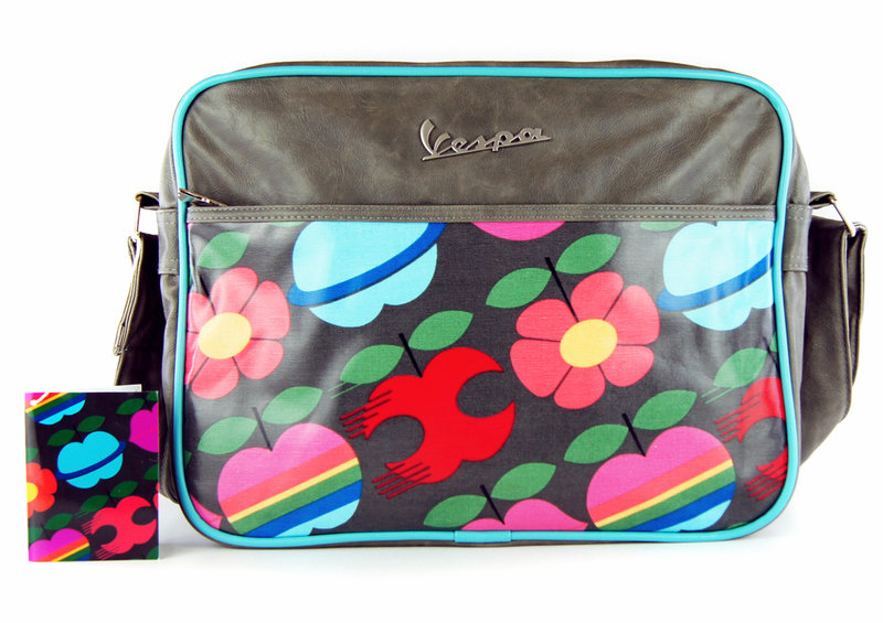 vespa tasche flight bag apple multicolor grau quer retro. Black Bedroom Furniture Sets. Home Design Ideas