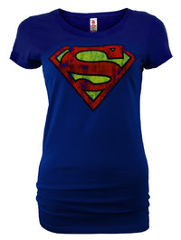 LOGOSH!RT Superman Damen T-Shirt SUPERGIRL LOGO Blau