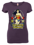 LOGOSH!RT Damen T-Shirt WONDER WOMAN STARS Lavender