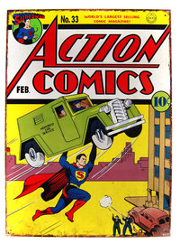 Superman Blechschild DIN A3 Action Comics