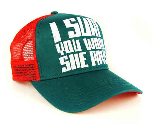 COASTAL 80er Retro Basecap I Surf You Work She Pays