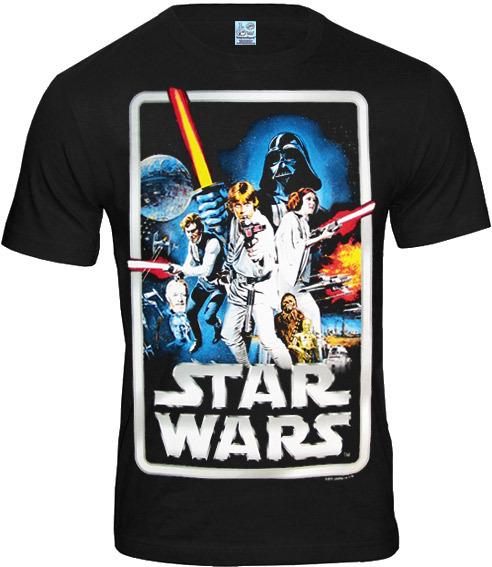 star wars poster herren t shirt logoshirt schwarz bestellen. Black Bedroom Furniture Sets. Home Design Ideas