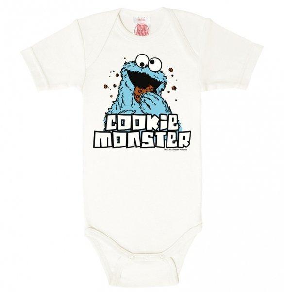 Krümelmonster Sesamstraße Babybody Logoshirt weiss bestellen 0ef125388e