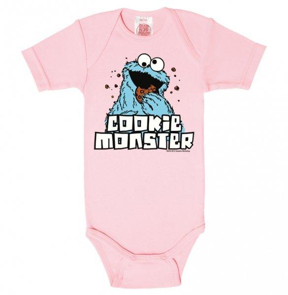 52a93cb142 Krümelmonster Sesamstraße Babybody Logoshirt Rosa bestellen