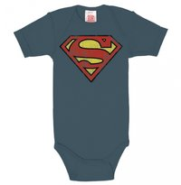 Superman Babybody Logoshirt Navy
