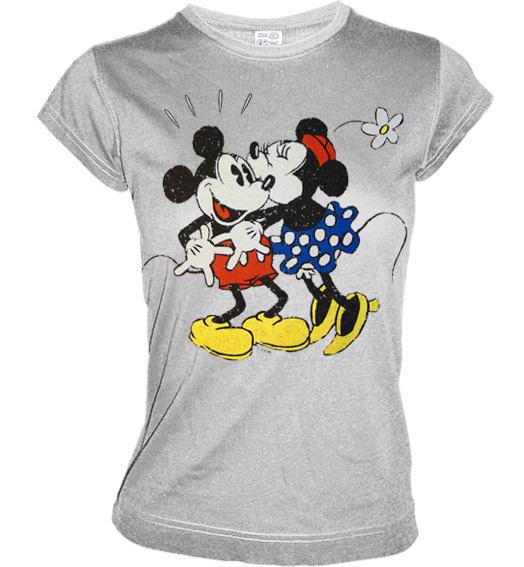 micky und minnie mouse love retro girl shirt sportsgrey. Black Bedroom Furniture Sets. Home Design Ideas