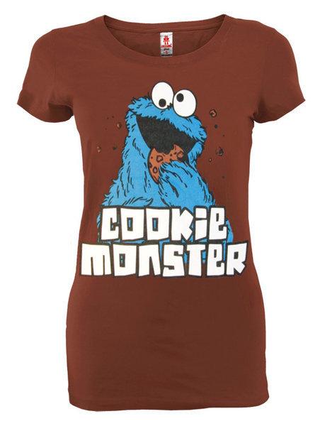 Cookie Monster Logoshirt Girl Vintage T-Shirt Chocolate bestellen c5a2377c03