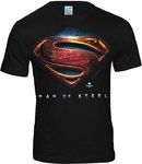 Logoshirt Herren Superman Man Of Steel T-Shirt Schwarz