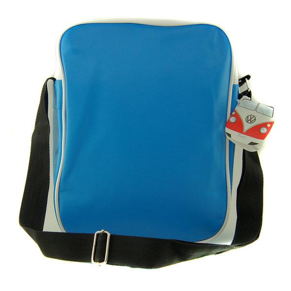 original vw t1 bulli flower tasche blau bestellen. Black Bedroom Furniture Sets. Home Design Ideas