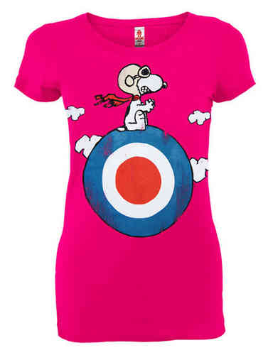 The Penauts Snoopy Target Girl T-Shirt Logoshirt Pink