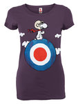 Snoopy Target The Peanuts Damen T-Shirt Purple