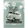 original VW Bulli T1 Blechschild Think Tall 40x30 cm