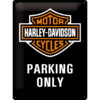 Harley-Davidson Blechschild schwarz Parking only 40x30 cm