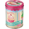 50er Retro Fairy Cakes - Cup Cakes Blechdose Rund