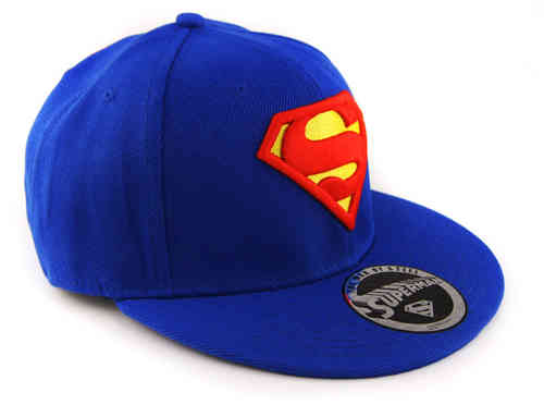 Flat Cap Snapback Basecap SUPERMAN LOGO royal
