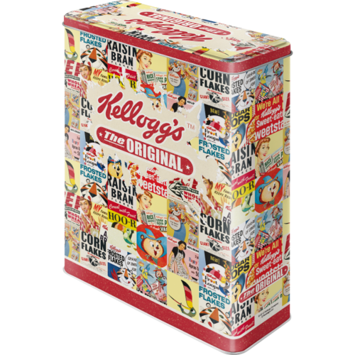 Kelloggs Cornflakes Blechdose The Original Collage XL