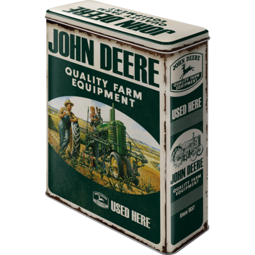 Retro John Deree Farm Equipment Blechdose XL