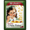 50er Retro Blechschild Mr Crickles Crispy Flakes 30x40 cm