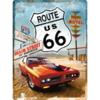 American Highway US Route 66 Blechschild Red Car 40x30 cm