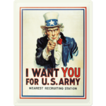 Uncle Sam I Want You For US Army Blechschild 30x40 cm