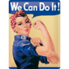 50er Retro We Can Do It Blechschild Werbeschild 30x40 cm