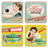 50er Retro Drink & Wine Untersetzer Coaster Set