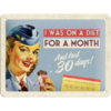 50er Retro On A Diet For A Month Blechschild 15x20 cm
