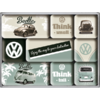 VW Bus & Beetle Think tall & small Magnet Set 9 tlg.