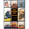 50er Retro Biker Parking Only Magnet Set 9 tlg.