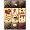 50er I Love You Chocolate Magnet Set 9 tlg.