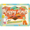 Retro Cocktail Bar Happy Hour Blechschild 15x20 cm