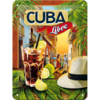 Retro Cocktail Bar Cuba Libre Blechschild 15x20 cm
