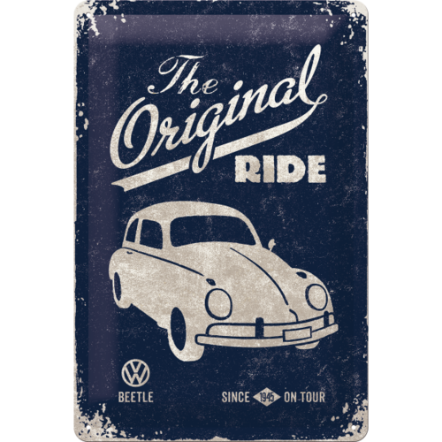 VW Beetle Käfer Blechschild The Original Ride 20x30cm