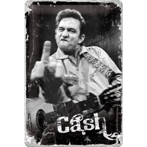 Retro Johnny Cash Finger Blechschild 20x30 cm