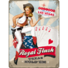PinUp Girl Las Vegas Poker Blechschild Royal Flush 30x40cm