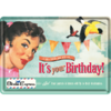 Its your Birthday Blechpostkarte Geburtstag 10x14cm