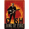 Johnny Cash Ring of Fire Blechpostkarte Grußkarte 10x14cm