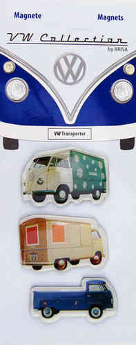 Retro VW Bulli T1 T2 Bus Transporter Magnet Set 3 tlg.