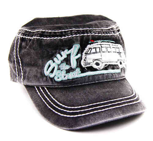 VW Bulli T1 Bus MILITARY CAP Surf the Street im Used Look