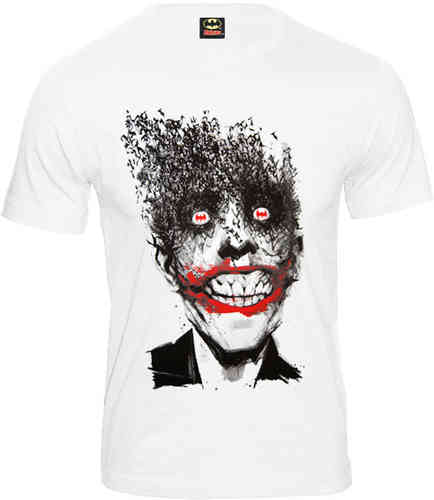 Retro Comic Batman Herren T-Shirt JOKER BAT FACE Codi