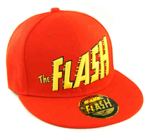 DC Comics Flat Cap Snapback Basecap THE FLASH LOGO rot
