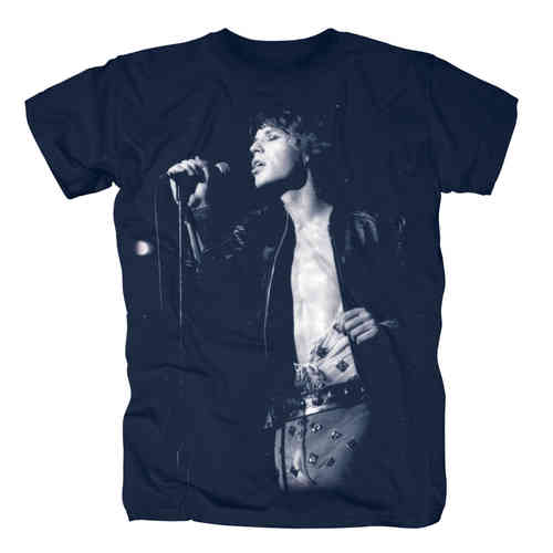 Original The Rolling Stones Herren T-Shirt MICK BLUE