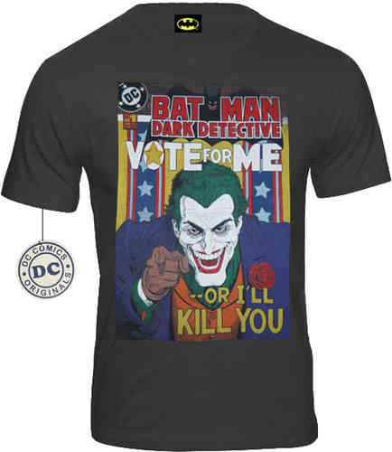 DC Comics Batman Joker Herren T-Shirt VOTE FOR ME