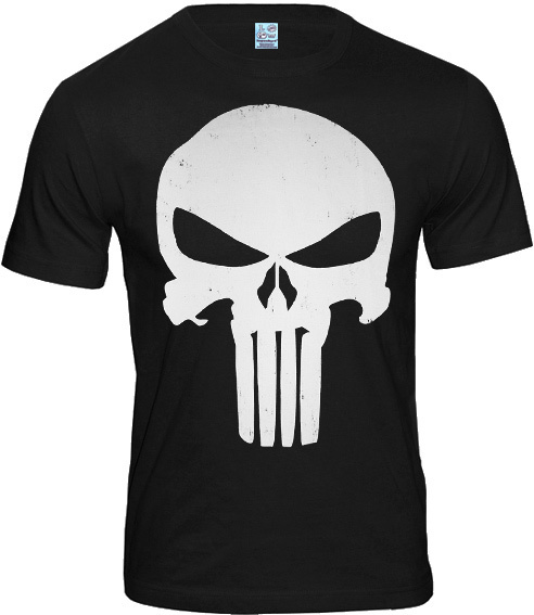 marvel comics the punisher logo herren t shirt kaufen. Black Bedroom Furniture Sets. Home Design Ideas