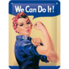 50er Retro Reklameschild WE CAN DO IT Blechschild 15x20 cm