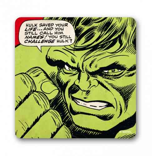 Retro Marvel HULK SAVED YOUR LIVE Untersetzer Coaster