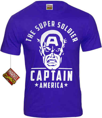 original Herren T-Shirt CAPTAIN AMERICA THE SUPER SOLDIER