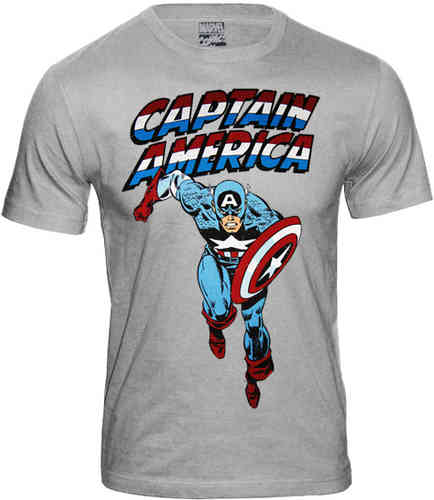 MARVEL COMICS Herren T Shirt CAPTAIN AMERICA COMES