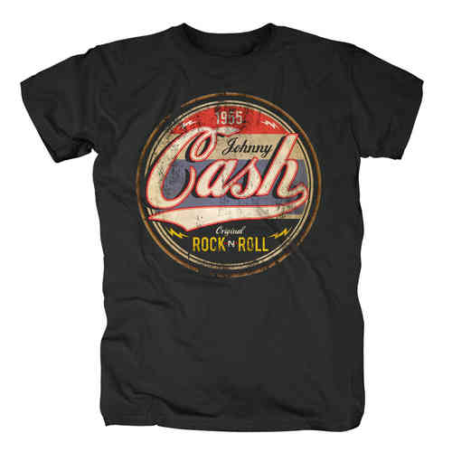 original Johnny Cash Herren T-Shirt ROCK N ROLL LOGO